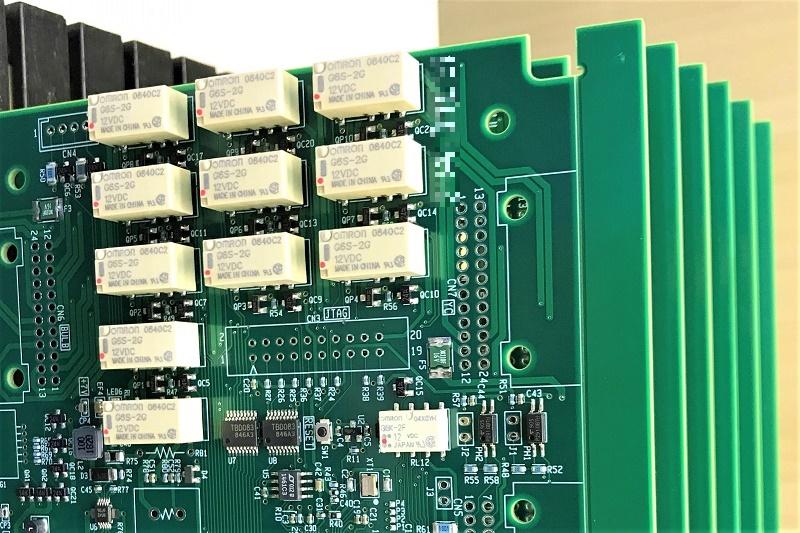 マイコン制御リレーシーケンス回路基板