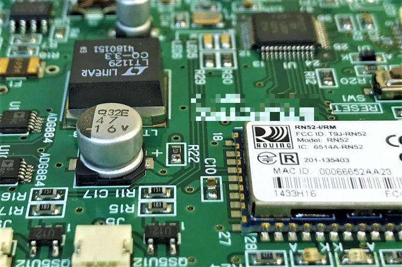スマートヘルメット用Bluetooth内臓マイコン回路基板