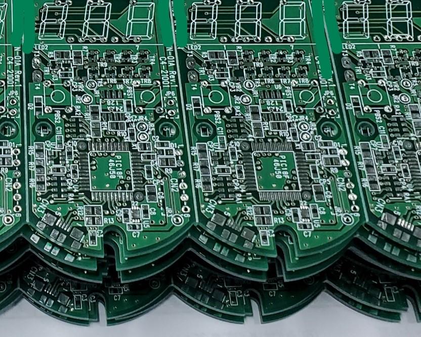 ハンディタイプ計測回路用基板(はんだ面)