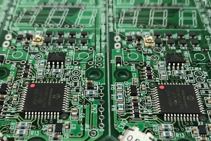 ハンディタイプ計測回路用基板(部品面)