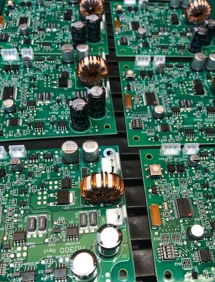 電力制御基板挿入リード部品実装
